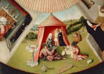 Hieronymus Bosch - Detail of Luxury, detail from The Table of the Seven Deadly Sins and the Four Last Things, c.1480