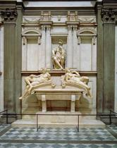 Michelangelo Buonarroti - Dusk and Dawn from the Tomb of Lorenzo de Medici, designed 1521, carved 1524-34