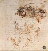 Leonardo da Vinci - Study of Horsemen in Combat and Foot Soldiers, 1503