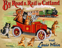 Louis Wain - By Road and Rail in Catland, 20th