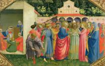 Fra Angelico - The Birth and Marriage of the Virgin, from the predella of the Annunciation altarpiece, c.1430-32