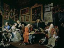 William Hogarth - Marriage a la Mode: I - The Marriage Settlement, c.1743