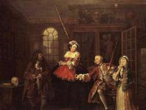 William Hogarth - Marriage a la Mode: III, The Visit to the Quack Doctor, before 1743
