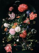 Jan Davidsz. de Heem - Flowers in a Glass Vase, c.1660