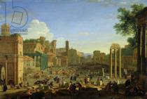 Herman van Swanevelt - View of the Campo Vaccino in Rome, c.1631