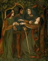 Dante Charles Gabriel Rossetti - How They Met Themselves, c.1850/60