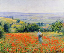 Leon Giran-Max - Woman in a Poppy Field