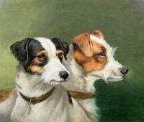 Alfred Wheeler - Two Fox Terriers, 1898