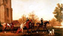 George Townley Stubbs - Huntsmen setting out from Southill
