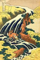 Katsushika Hokusai - The Waterfall where Yoshitsune washed his horse', no.4 in the series 'A Journey to the Waterfalls of all the Provinces', pub. by