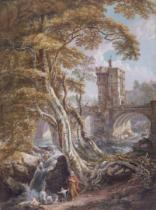 Thomas Paul Sandby - PD.8-1976 View of the Old Welsh Bridge, Shrewsbury, c.1770