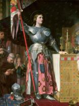 Jean-Auguste-Dominique Ingres - Joan of Arc (1412-31) at the Coronation of King Charles VII (1403-61) 17th July 1429, 1854