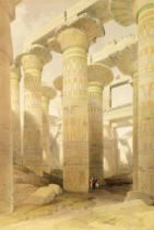 David Roberts - Hall of Columns, Karnak, from 'Egypt and Nubia', Vol.1