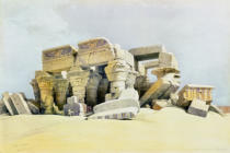 David Roberts - Ruins of the Temple of Kom Ombo, from 'Egypt and Nubia', Vol.1