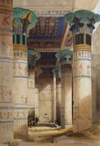 David Roberts - View under the Grand Portico, Philae, from 'Egypt and Nubia', Vol.1