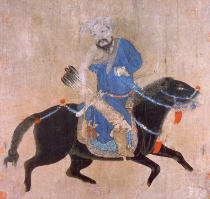 Ming Dynasty Chinese School - Mongol archer on horseback, from seals of the Emperor Ch'ien Lung and others, 15th-16th century