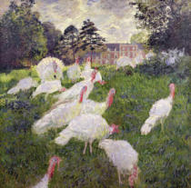 Claude Monet - The Turkeys at the Chateau de Rottembourg, Montgeron, 1877 (oil on canvas_