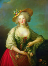 Élisabeth-Louise Vigée-Lébrun - Elisabeth of France (1764-94) called Madame Elizabeth, c.1782