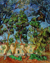 Vincent van Gogh - Trees in the Garden of St. Paul's Hospital, 1889