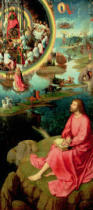 Hans Memling - St. John the Evangelist at Patmos, from the Mystic Marriage of St. Catherine Triptych, 1479  1479