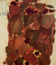 Egon Schiele - Sunflowers, 1911