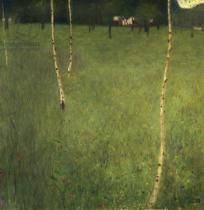 Gustav Klimt - Farmhouse with birch trees