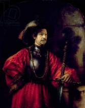 Harmensz van Rijn Rembrandt - Portrait of a man in military costume, 1650