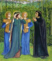 Dante Charles Gabriel Rossetti - No.2292 The Salutation of Beatrice in Eden, 1850-54