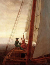 Caspar David Friedrich - On Board a Sailing Ship, 1819