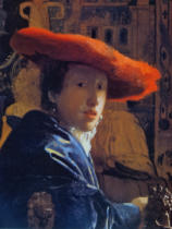 Jan Vermeer van Delft - Girl with a Red Hat, c.1665