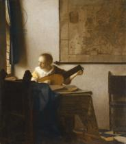 Jan Vermeer van Delft - Woman with a Lute, c.1662-1663