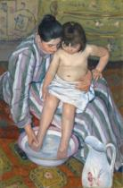 Mary Stevenson Cassatt - Child's bath, 1893