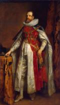 Anthonis van Dyck - Portrait of Henry Danvers, 1st Earl of Danby, in robes of a Knight of the Garter, c.1630