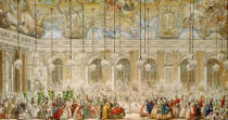 Charles Nicolas II Cochin - The Masked Ball at the Galerie des Glaces, 17th February 1745