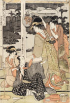 Kitagawa Utamaro - P.359-1945 Scene 12, Comparison of celebrated beauties and the loyal league, c.1797