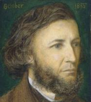 Dante Charles Gabriel Rossetti - Portrait of Robert Browning (1812-89), 1855