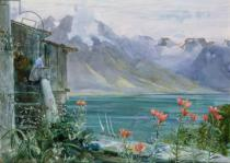 John William Inchbold - Ferritet, Lake Geneva, 1882