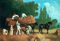 George Townley Stubbs - The Harvest Wagon