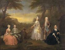 William Hogarth - The Jones Family, c.1730-1