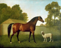 George Townley Stubbs - 'Dungannon', the property of Colonel O'Kelly, painted in a paddock with a sheep, 1793