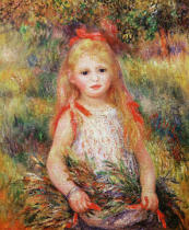 Pierre Auguste Renoir - Little Girl Carrying Flowers, or The Little Gleaner, 1888