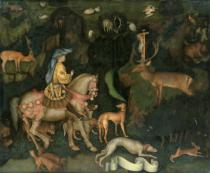 Antonio Pisanello - The Vision of Saint Eustace, c.1438-42
