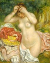 Pierre Auguste Renoir - Bather Arranging her Hair, 1893