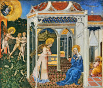 Giovanni di Paolo di Grazia - The Annunciation and Expulsion from Paradise, c. 1435