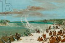 George Catlin - Portage Around the Falls of Niagara at Table Rock, 1847- 48