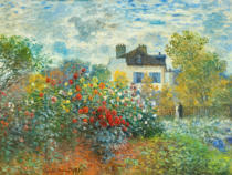 Claude Monet - The Artist's Garden in Argenteuil , 1873