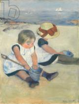 Mary Stevenson Cassatt - Children Playing on the Beach, 1884