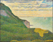 Georges Pierre Seurat - Seascape at Port-en-Bessin, Normandy, 1888