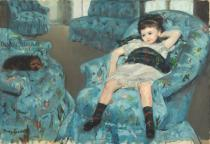 Mary Stevenson Cassatt - Little Girl in a Blue Armchair, 1878