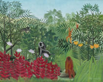 Henri J.F. Rousseau - Tropical Forest with Monkeys, 1910